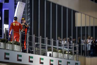 Sebastian Vettel, Ferrari en Max Verstappen, Red Bull Racing