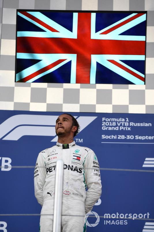Podio: ganador de la carrera Lewis Hamilton, Mercedes AMG F