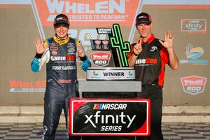 Christopher Bell, Joe Gibbs Racing, Toyota Camry GameStop Just Cause 4 celebrates