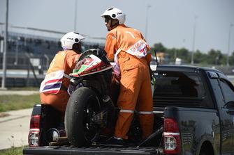 La moto accidentée de Scott Redding, Aprilia Racing Gresini