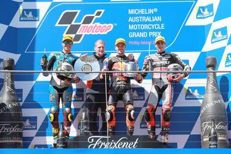 Joan Mir, Marc VDS Racing Aki Ajo, Ajo Motorsport Team Principal, Brad Binder, Red Bull KTM Ajo Xavi Vierge, Dynavolt Intact GP