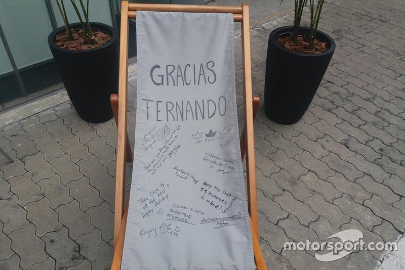 Une chaise longue signée pour Fernando Alonso