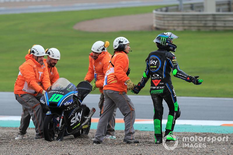 Sturz: Dennis Foggia, Sky Racing Team VR46