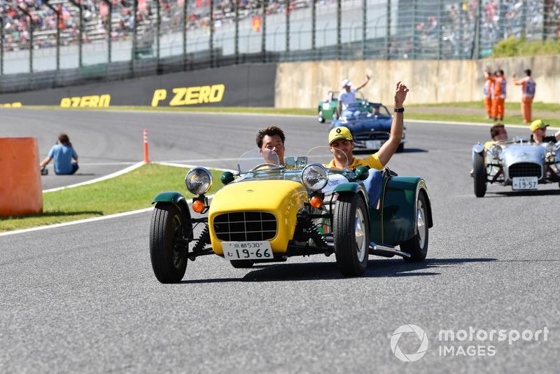 Carlos Sainz Jr., Renault Sport F1 Team lors de la parade des pilotes