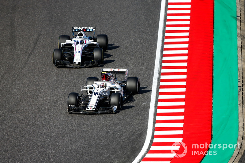 Charles Leclerc, Sauber C37, Lance Stroll, Williams FW41
