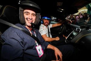 NASCAR driver Jimmie Johnson on a Hot Lap with Fernando Alonso, McLaren