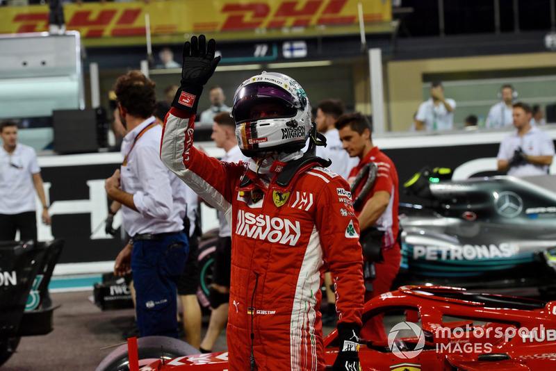 Sebastian Vettel, Ferrari celebrates