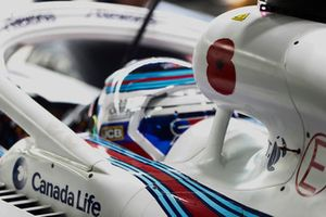 Un coquelicot sur la prise d'air de Sergey Sirotkin, Williams Racing