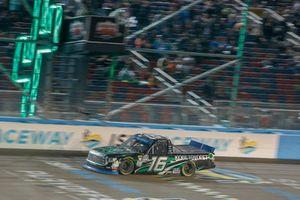 Brett Moffitt, Hattori Racing Enterprises, Toyota Tundra KOBE takes the checkered flag