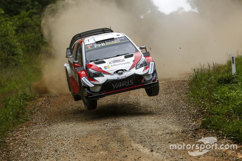 Most Stage Wins: Ott Tanak, Martin Järveoja, Toyota Yaris WRC, Toyota Gazoo Racing, l'equipaggio che ha vinto più speciali nel WRC 2018.