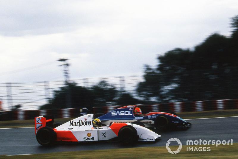 Ayrton Senna, McLaren Ford MP4/8, Eddie Irvine, Jordan Hart J193