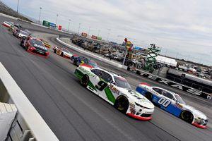 Cole Custer, Stewart-Haas Racing, Ford Mustang Autodesk and Tyler Reddick, JR Motorsports, Chevrolet Camaro BurgerFi
