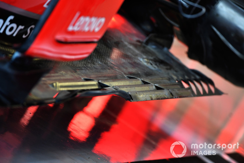 Ferrari SF-71H rear floor detail