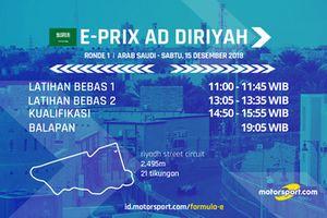Jadwal Formula E E-Prix Ad Diriyah