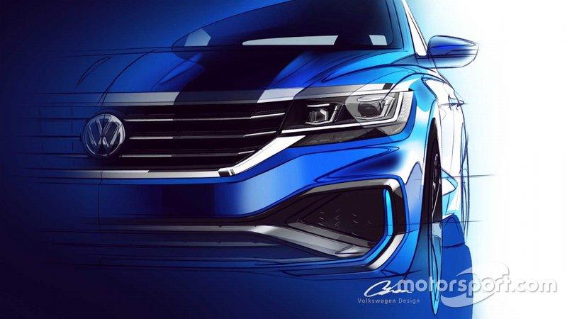Тізер Volkswagen Passat 2020 року