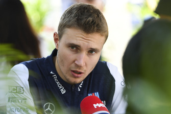 Sergey Sirotkin, Williams Racing talks with the media