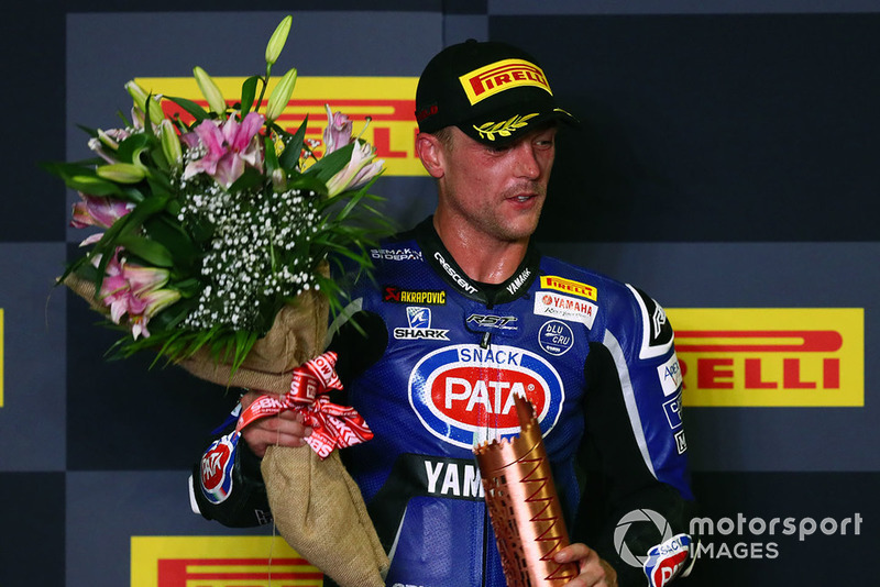 Podium: third place Alex Lowes, Pata Yamaha
