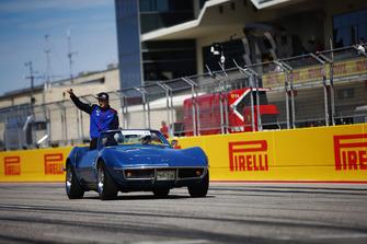 Brendon Hartley, Scuderia Toro Rosso, lors de la parade des pilotes