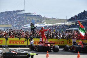Yarış galibi Kimi Raikkonen, Ferrari SF71H, Parc Ferme