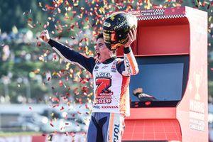 Marc Marquez, Repsol Honda Team, célèbre son titre de Champion du monde