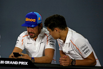 Fernando Alonso, McLaren and Lando Norris, McLaren in the press conference