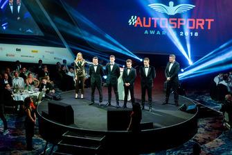 Les nommés au McLaren Autosport BRDC Award Jamie Caroline, Tom Gamble, Max Fewtrell et Kiern Jewiss