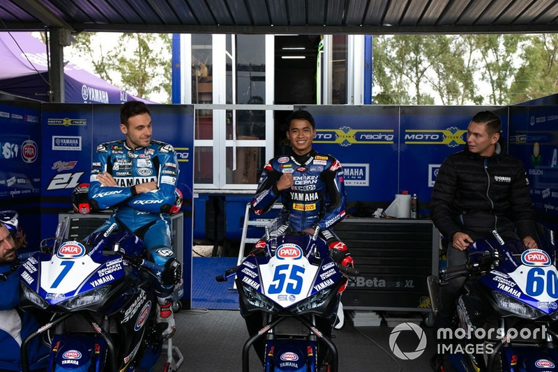 Niccolo Canepa, YART Yamaha Official EWC Team, Galang Hendra, and Michael van der Mark, Pata Yamaha World Superbike Team