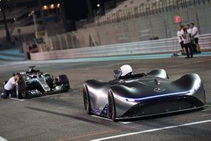 Mercedes-Benz, EQ Silver Arrow concept car and Valtteri Bottas, Mercedes-AMG F1 W09