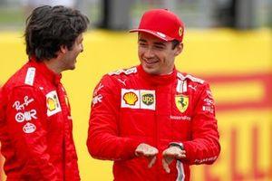 Charles Leclerc, Ferrari en Carlos Sainz Jr., Ferrari