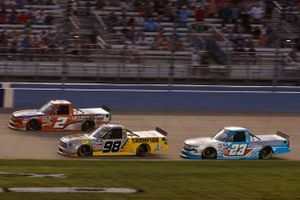 Sheldon Creed, GMS Racing, Chevrolet Silverado Liftkits4less.com, Grant Enfinger, ThorSport Racing, Toyota Tundra Champion/Curb Records, Chase Purdy, GMS Racing, Chevrolet Silverado BamaBuggies.com