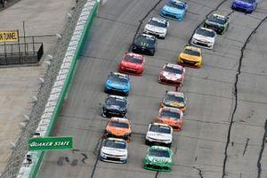 Kyle Busch, Joe Gibbs Racing, Toyota Supra Extra Gum, Justin Haley, Kaulig Racing, Chevrolet Camaro LeafFilter Gutter Protection