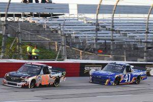 #02: Kris Wright, Young's Motorsports, Chevrolet Silverado WrightCars.com, #41: Dawson Cram, Cram Enterprises, Chevrolet Silverado