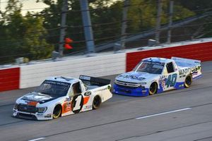 #1: Hailie Deegan, Team DGR, Ford F-150 Ford Performance, #40: Ryan Truex, Niece Motorsports, Chevrolet Silverado Marquis Spas