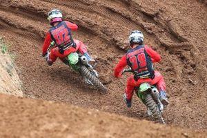 Mathys Boisrame en Roan van de Moosdijk, F&H Kawasaki MX2 Racing Team