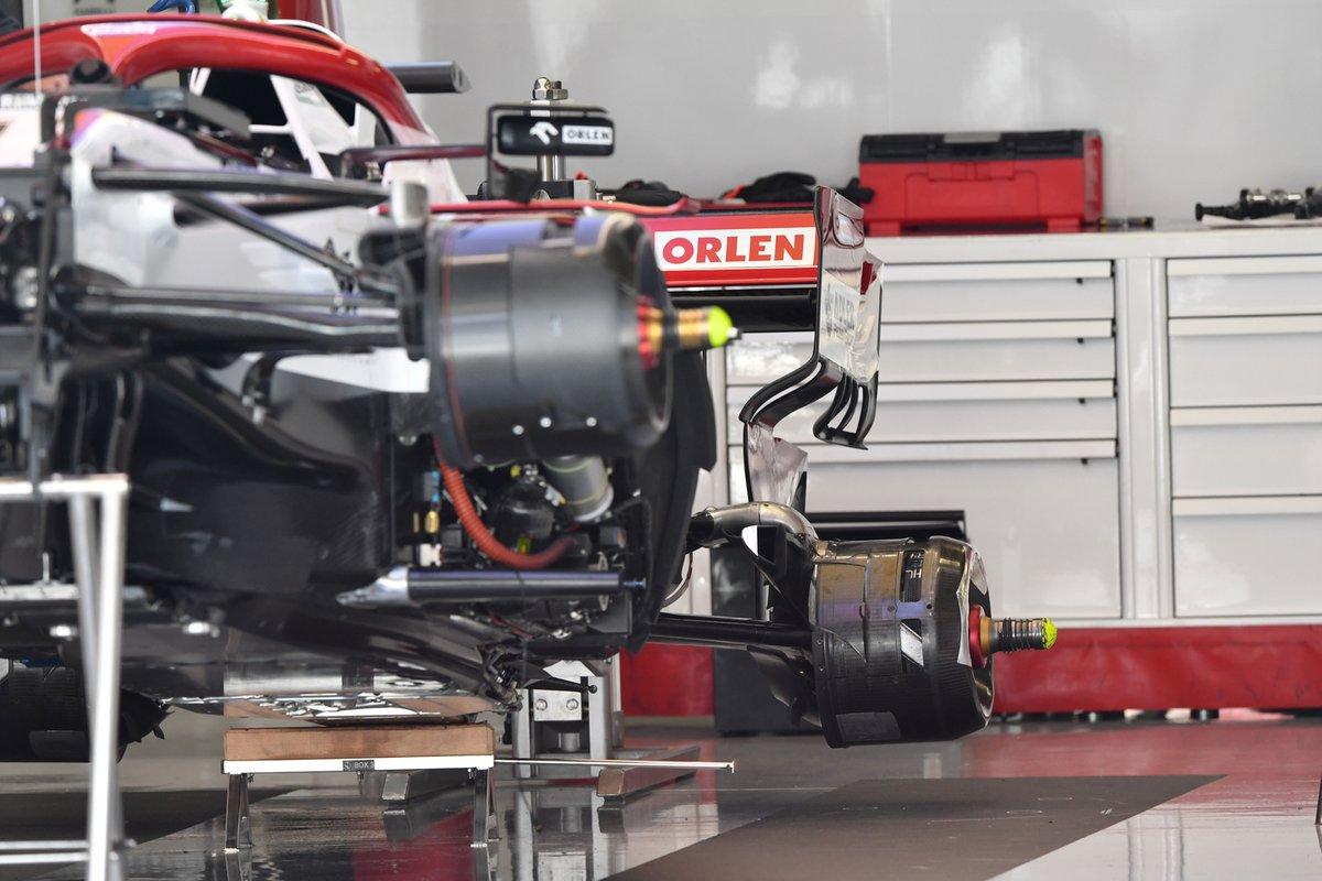 Detalle del conducto de freno trasero del Alfa Romeo Racing C41