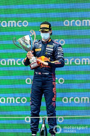 Podio: ganador Dennis Hauger, Prema Racing