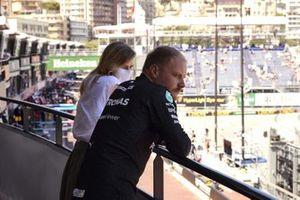 Valtteri Bottas, Mercedes, avec sa petite amie Tiffany Cromwell