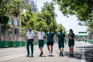 Lance Stroll, Aston Martin track walk