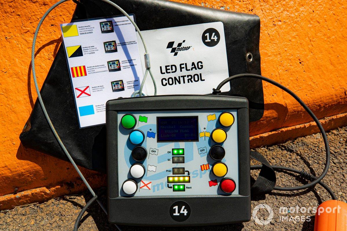 Control de banderas LED