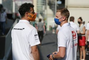 Daniel Ricciardo, McLaren and Mick Schumacher, Haas