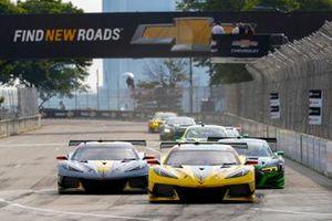 #3 Corvette Racing Corvette C8.R, GTLM: Antonio Garcia, Jordan Taylor, #4 Corvette Racing Corvette C8.R, GTLM: Tommy Milner, Nick Tandy