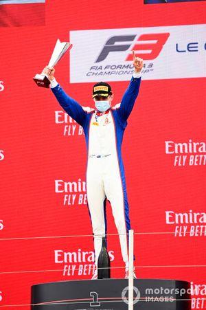 Race Winner Jack Doohan, Trident celebrates with his trophy