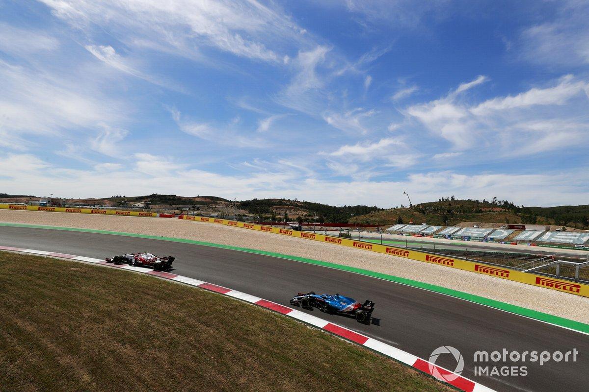 Antonio Giovinazzi, Alfa Romeo Racing C41, Fernando Alonso, Alpine A521