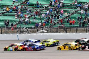 Kyle Busch, Joe Gibbs Racing, Toyota Camry M&M's Mix leads