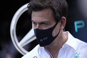 Toto Wolff, Team Principal and CEO, Mercedes AMG, is interviewed