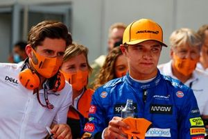 Lando Norris, McLaren , 3rd position, in Parc Ferme
