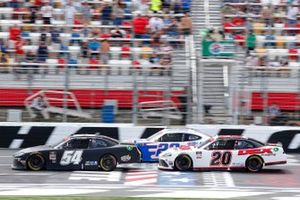Ty Giibs, Joe Gibbs Racing, Toyota Supra Joe Gibbs Racing, Harrison Burton, Joe Gibbs Racing, Toyota Supra DEX Imaging restart