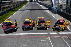 Gilles Magnus, Nathanaël Berthon, Frédéric Vervisch, Tom Coronel, Comtoyou Team Audi Sport, Audi RS 3 LMS TCR