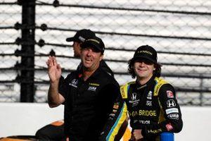 Colton Herta, Andretti Autosport Honda, mit Vater Bryan Herta