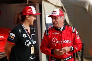 Laia Sanz, Acciona   Sainz XE Team and Carlos Sainz, Sainz XE Team